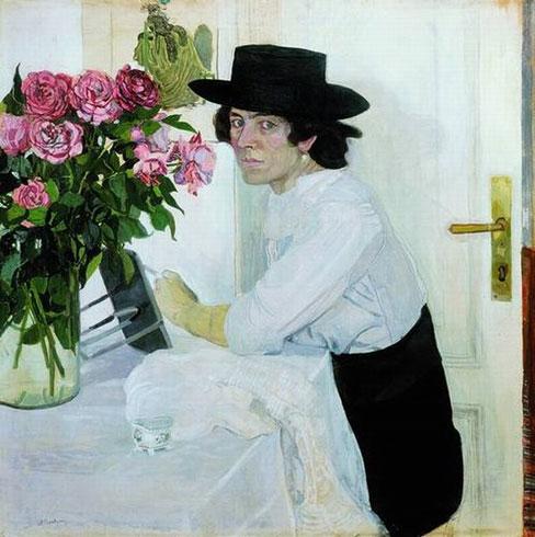 Женщина в шляпе (Головин А.Я.)