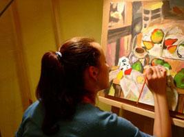 Работа гуашевыми красками