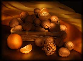 Натюрморт в золотых тонах (Ася Ахундова)