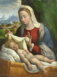 Спящий младенец Иисус (Гарофало)
