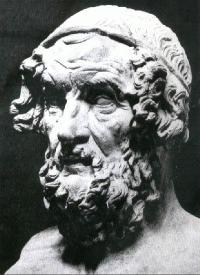 Картинка идола (голова в форме овала) - Гомер. Греция