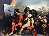Юпитер, Меркурий и Добродетель (Доссо Досси, 1524 г.)
